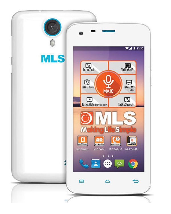 MLS COLOR MINI 4G SMARTPHONE WHITE - Έως 3 άτοκες δόσεις