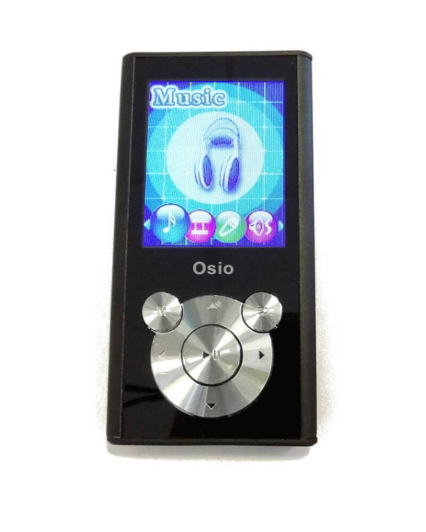 OSIO SRM-9080BS MP3/MP4 PLAYER 8GB BLACK - Έως 3 άτοκες δόσεις